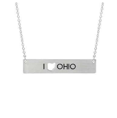 Ohio Cutout Bar Necklace