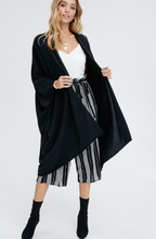 Black Oversized Poncho
