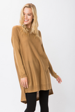 Camel Hi-low Sweater