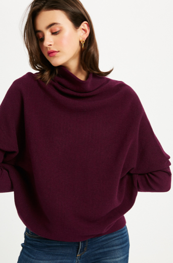 Deep Burgundy Dolman Sweater