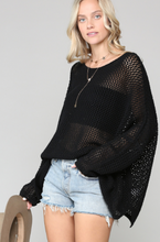 Oversized Open Stitch Sweater