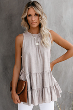 Taupe Ruffled Hem Top