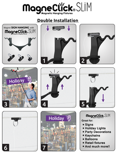 MagneClick® Double Install w/ Wavy Heads - Big Shot Promotions