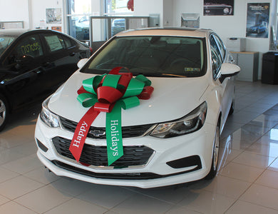 30 Inch Happy Holidays Car Bow - Big Shot Promotions