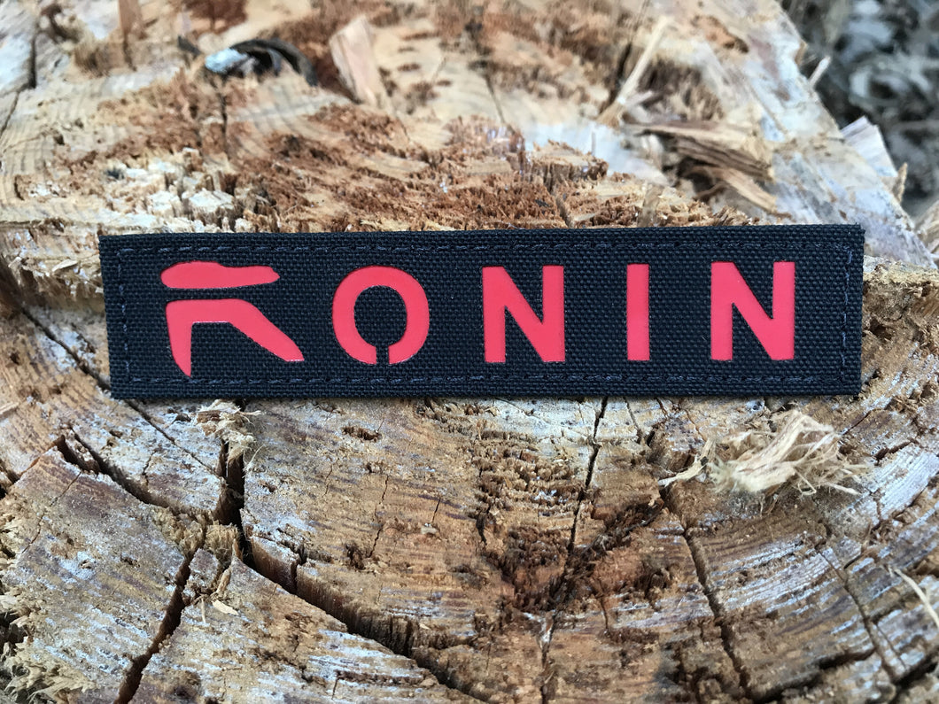 Ronin Red and Black Name Tape