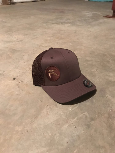 Brown SnapBack with Tan logo
