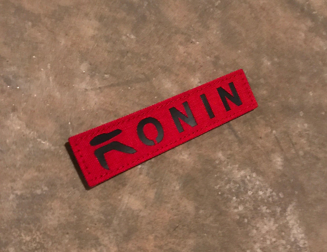 Ronin Black and Red Name Tape