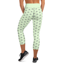 Mint Sprinkle Yoga Capri Leggings
