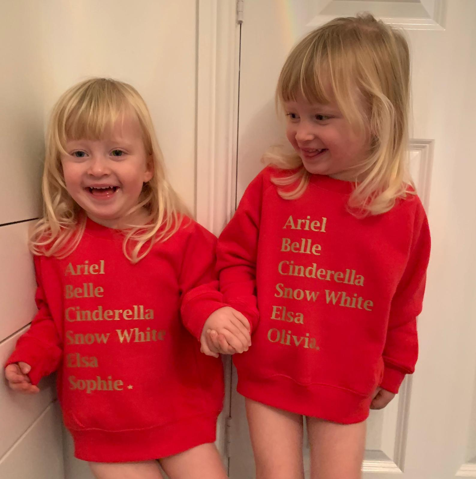 Whistling Dixie Kids Sweatshirt - Princesses Personalised by Whistling Dixie
