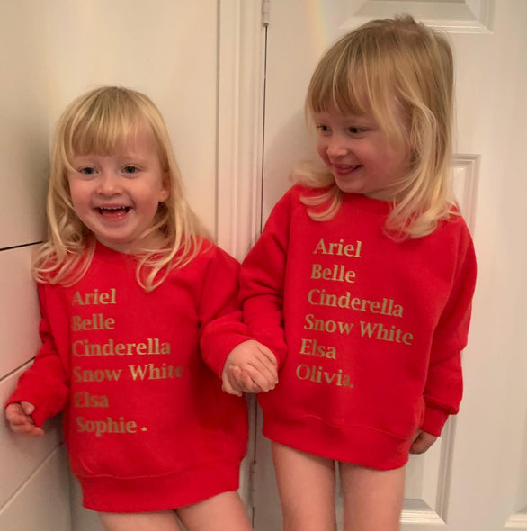 Whistling Dixie Kids Sweatshirt - Princesses Personalised