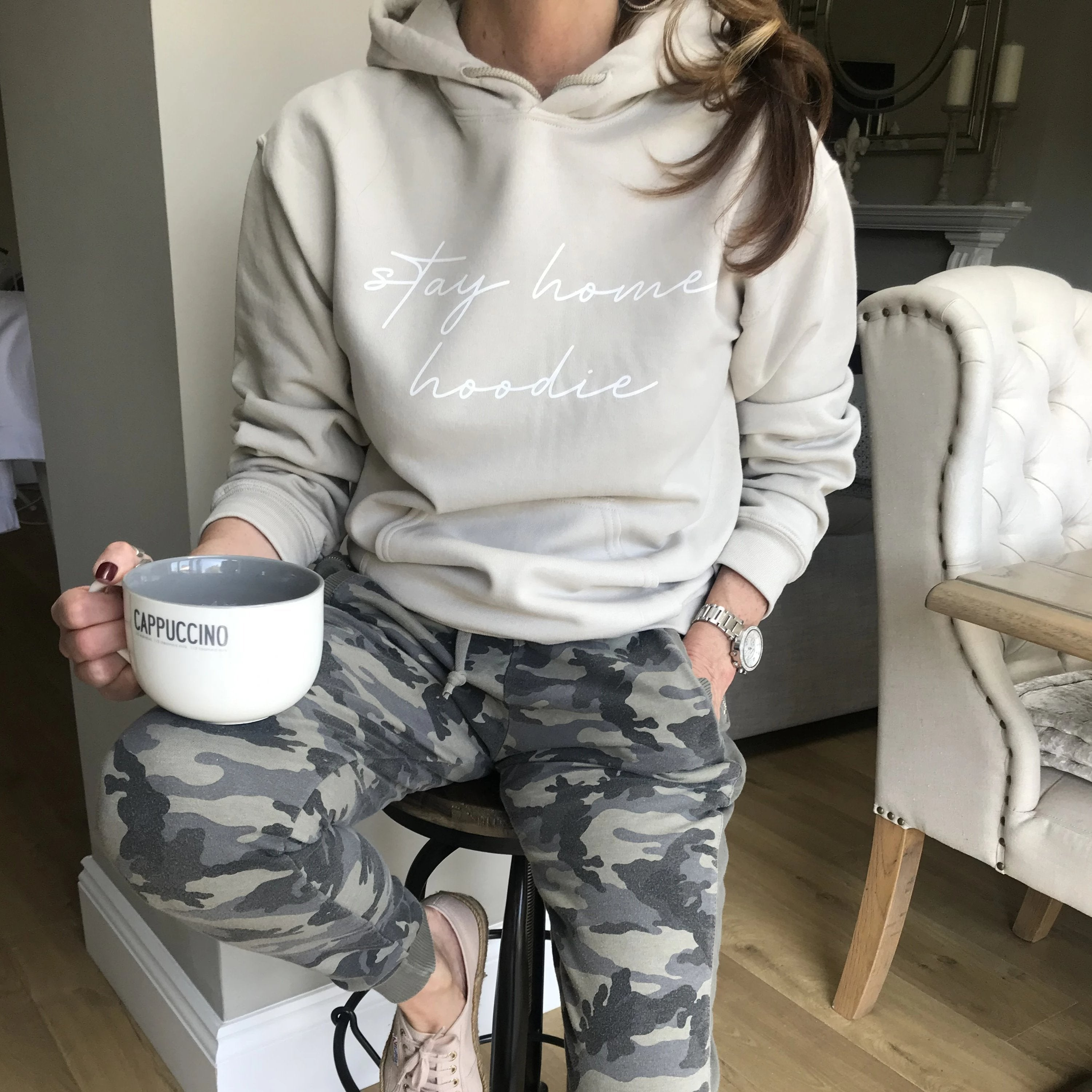 stay home hoodie by Whistling Dixie
