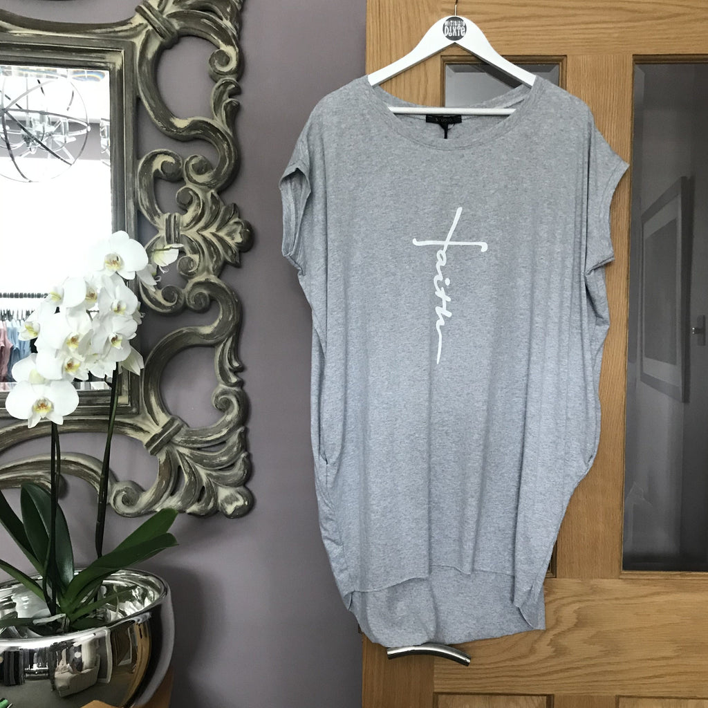oversize Tunic Tee -faith