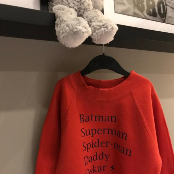 Whistling Dixie Kids Sweatshirt - Superheroes personalised