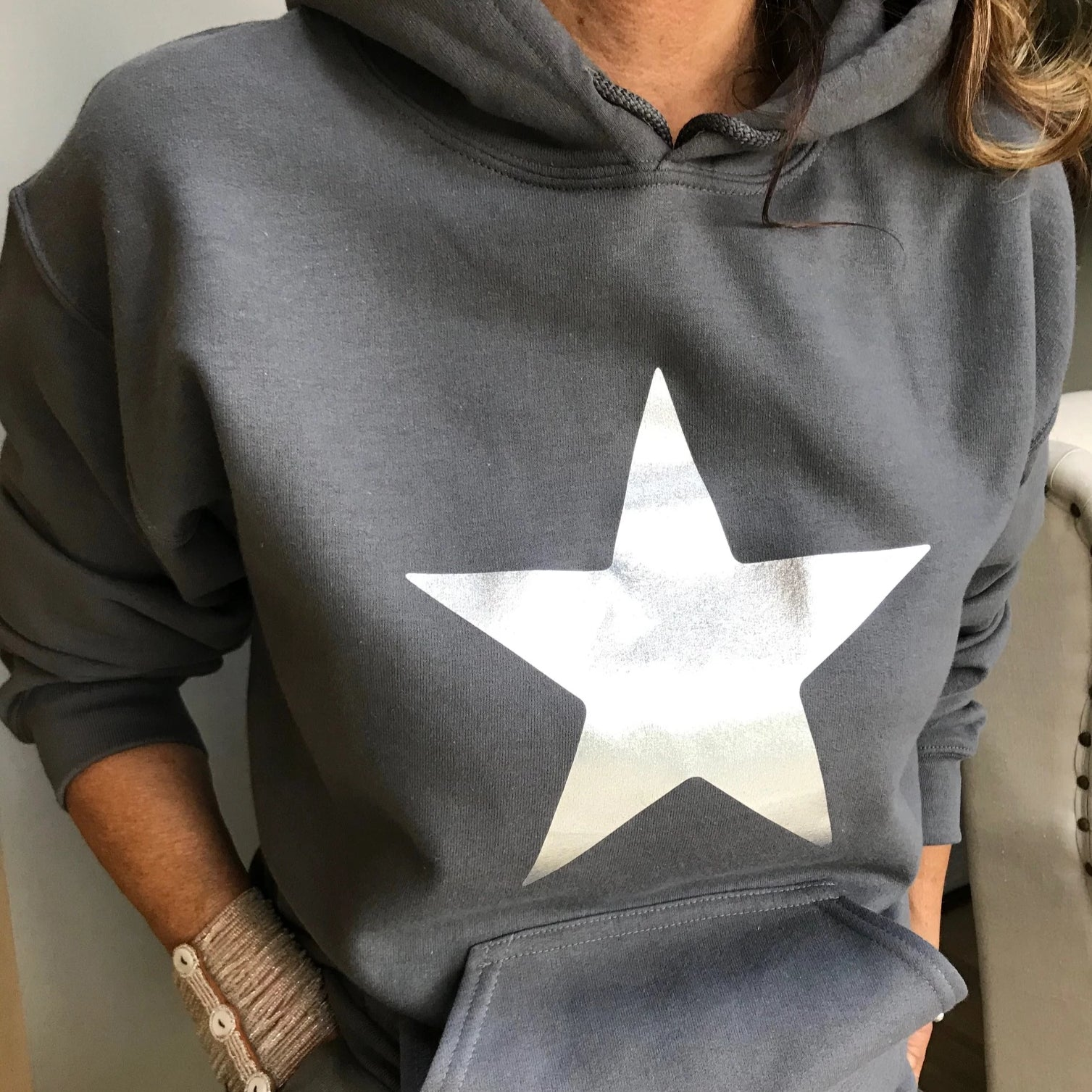 silver star hoodie by Whistling Dixie