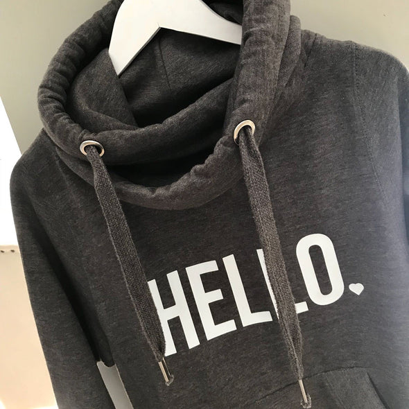Whistling Dixie Crossover Neck Hoodie - Hello