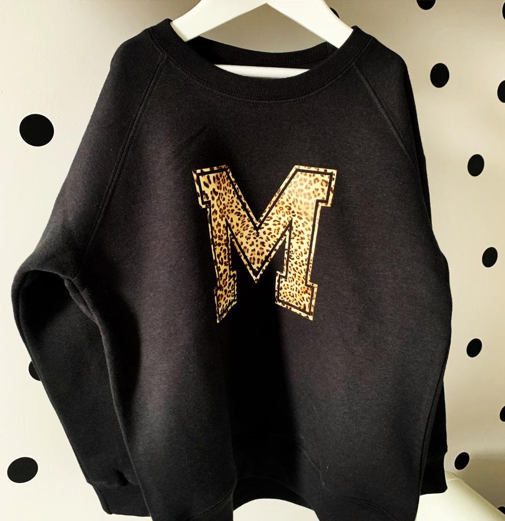 Whistling Dixie Kids Sweatshirt - Animal Initial