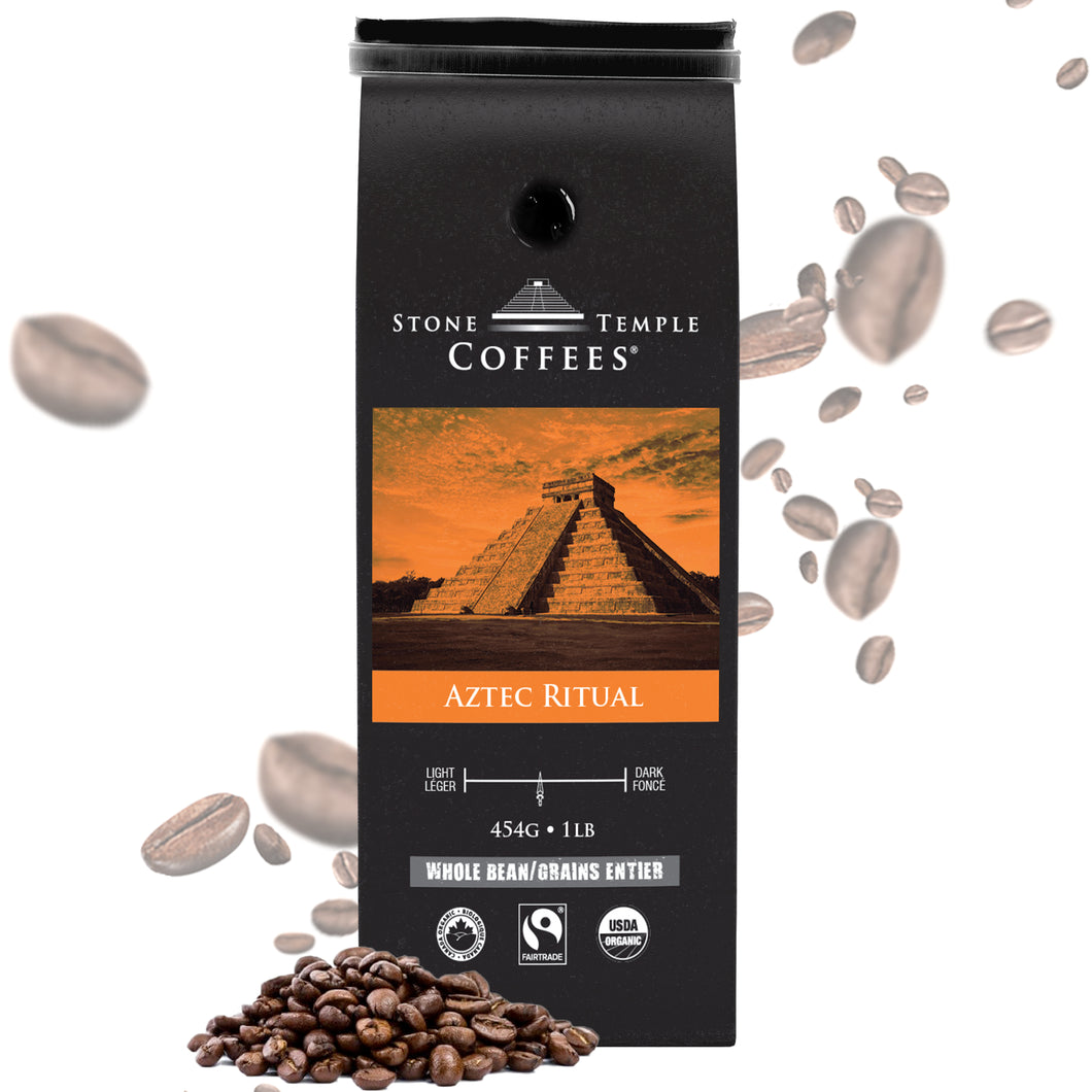 Stone Temple Coffees - Aztec Ritual, Whole Bean, Light Roast, Coffee 1lb/454g