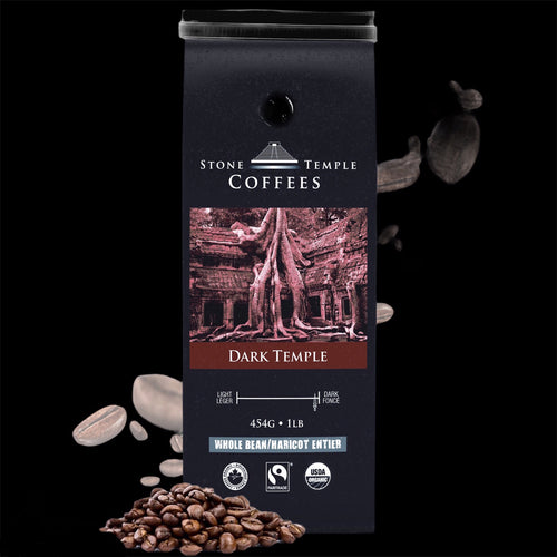 Dark Temple - Dark Roast, Certified Organic/ Fairtrade Coffee 1lb/ 454g