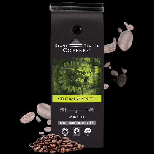 Central and South Medium Roast Organic/ Fairtrade Coffee 1lb/454g