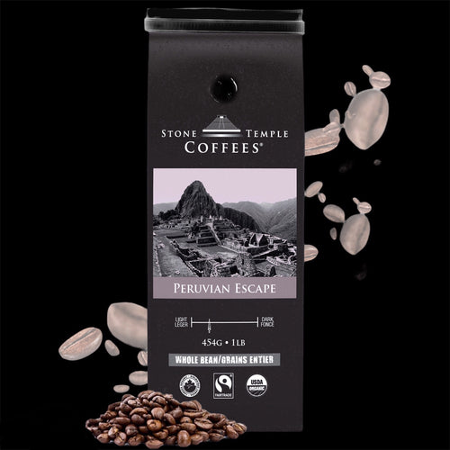 Peruvian Escape, Medium Roast, Organic/ Fairtrade Coffee 1lb/454g
