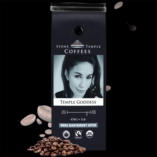 Temple Goddess Dark Espresso Organic/ Fairtrade Coffee 1lb/ 454g