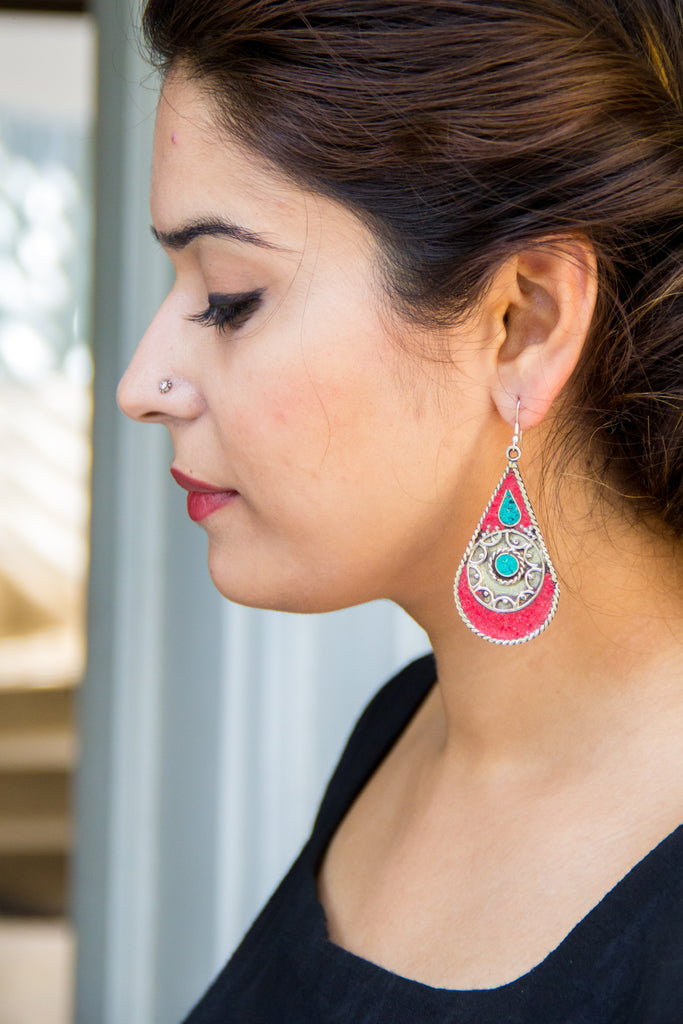 Afghan Drop Earrings