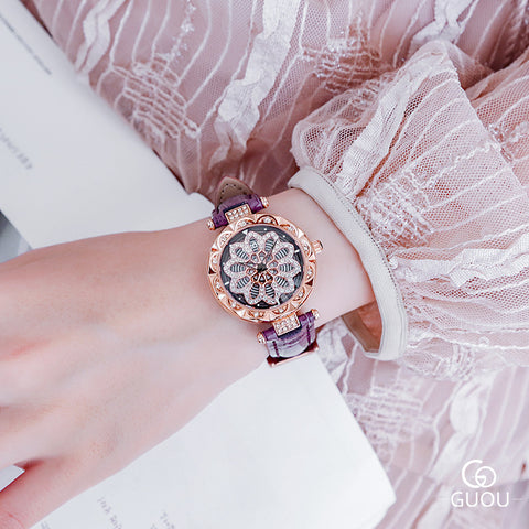 Diamond Flower Wrist Watch