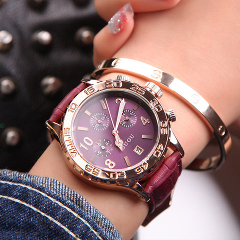 The Purple Chronograph Wrist Watch