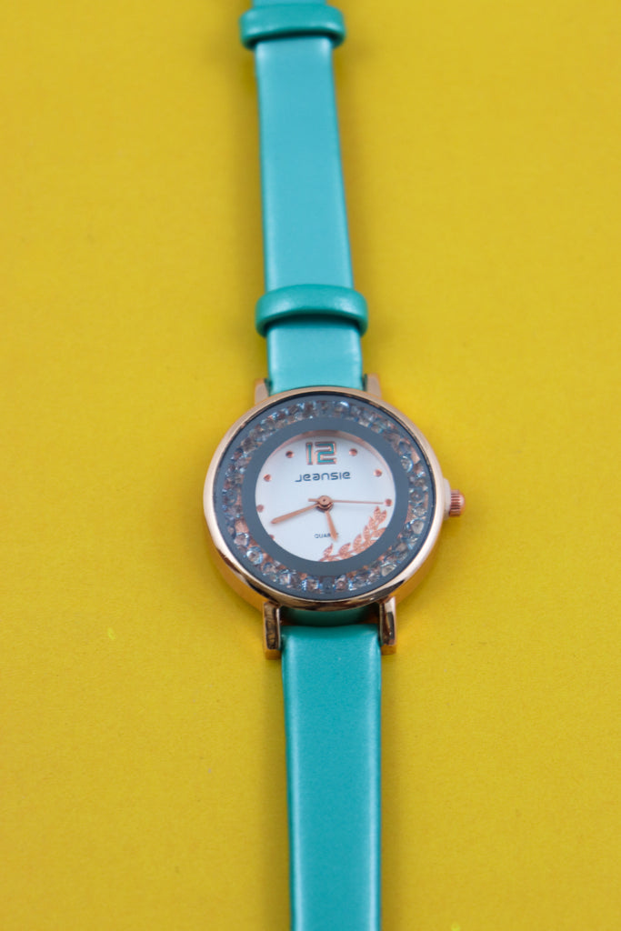 Turquoise Jeansie Basic Wrist Watch