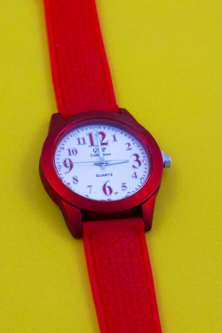 Dynamic Red Wrist Watch