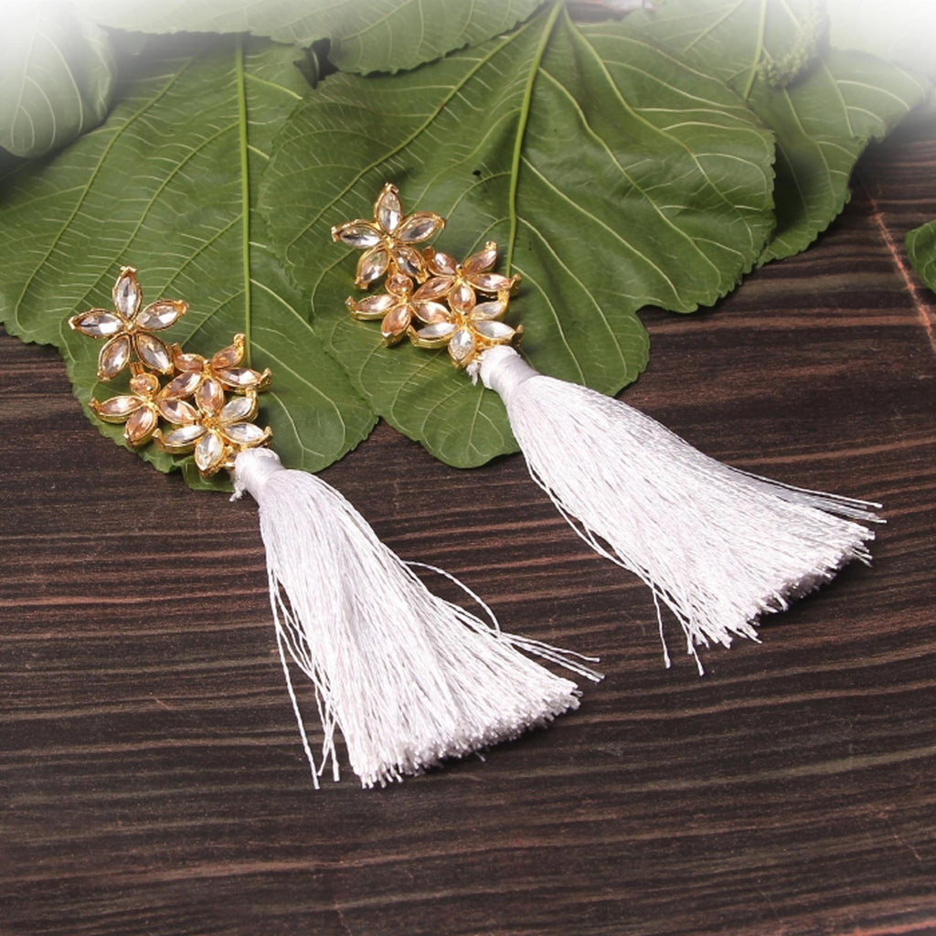 Sacha Raw Stone Tassel Earrings