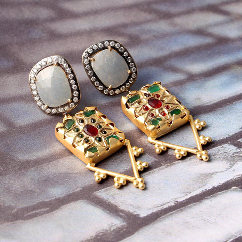 Philip Raw Stone Earrings