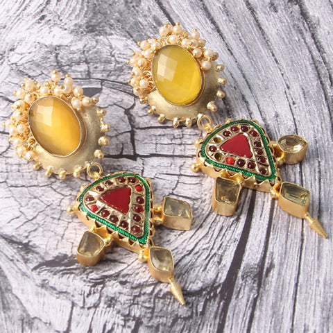 Matthew Raw Stone Earrings