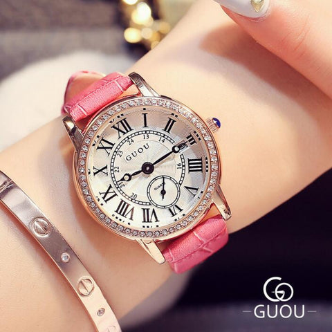 White Pink Suave Women's Wrist Watch