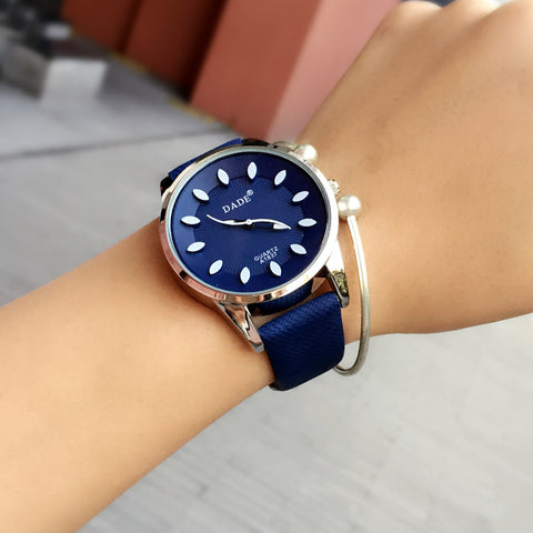 Blue White Wrist Watch