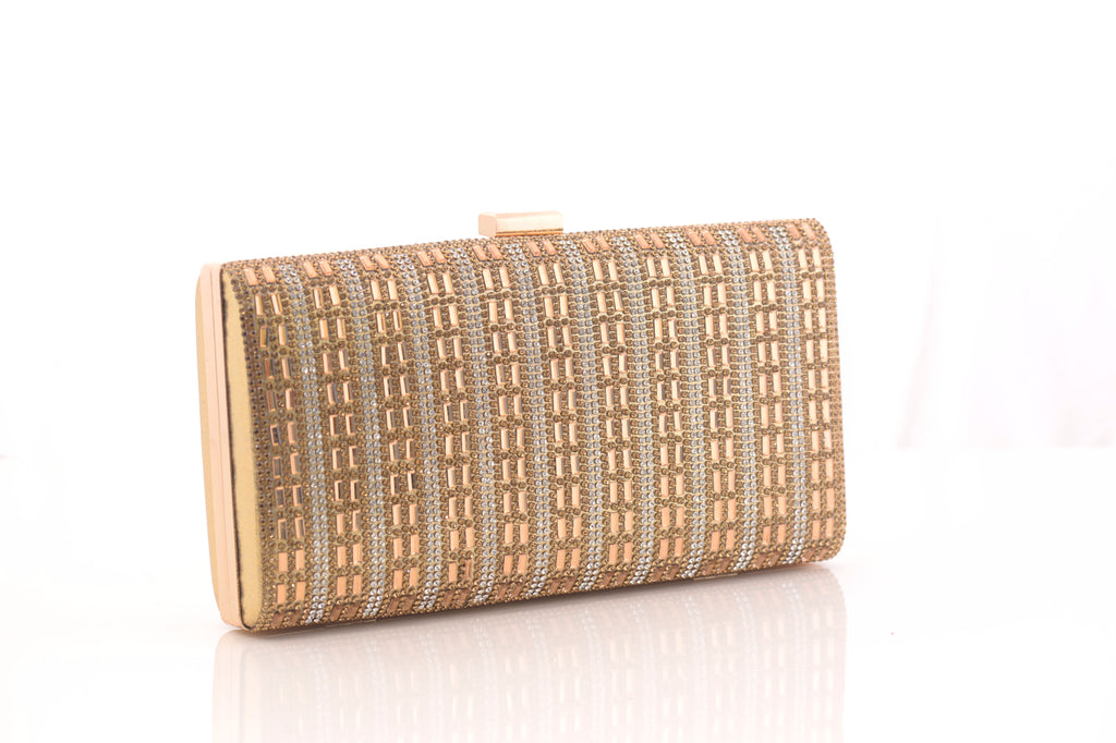 Aafreen Golden Clutch Bag