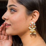 Mor Jadau Earrings