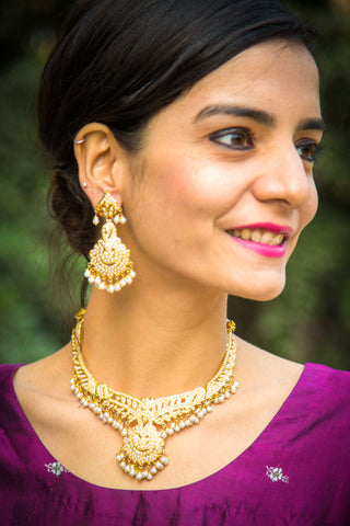 Aaloka Amritsari Jadau Necklace Set