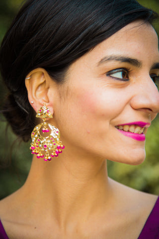 Abhinivesha Jadau Earrings