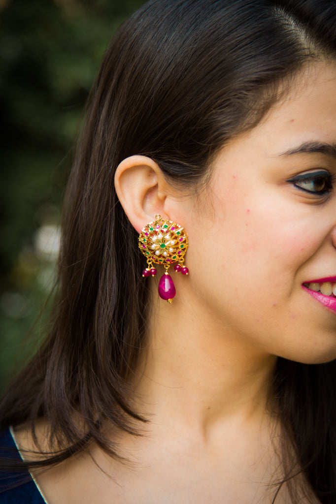 Akshara Jadau Earrings