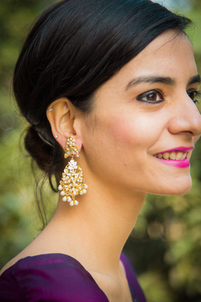 Anika Amritsari Jadau Earrings
