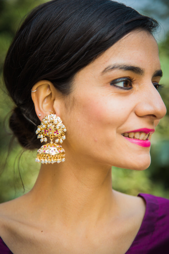 Asmita Amritsari Jadau Earrings