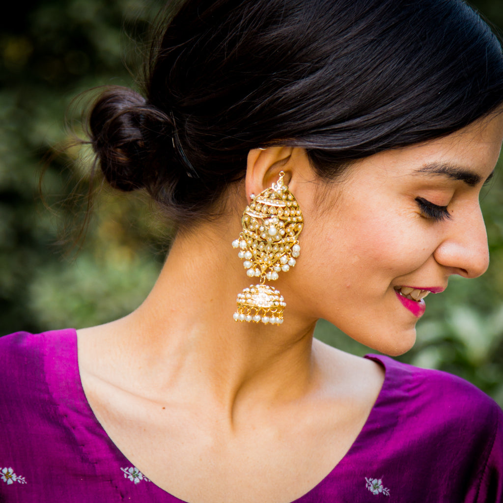 Aaarah Jadau Earrings