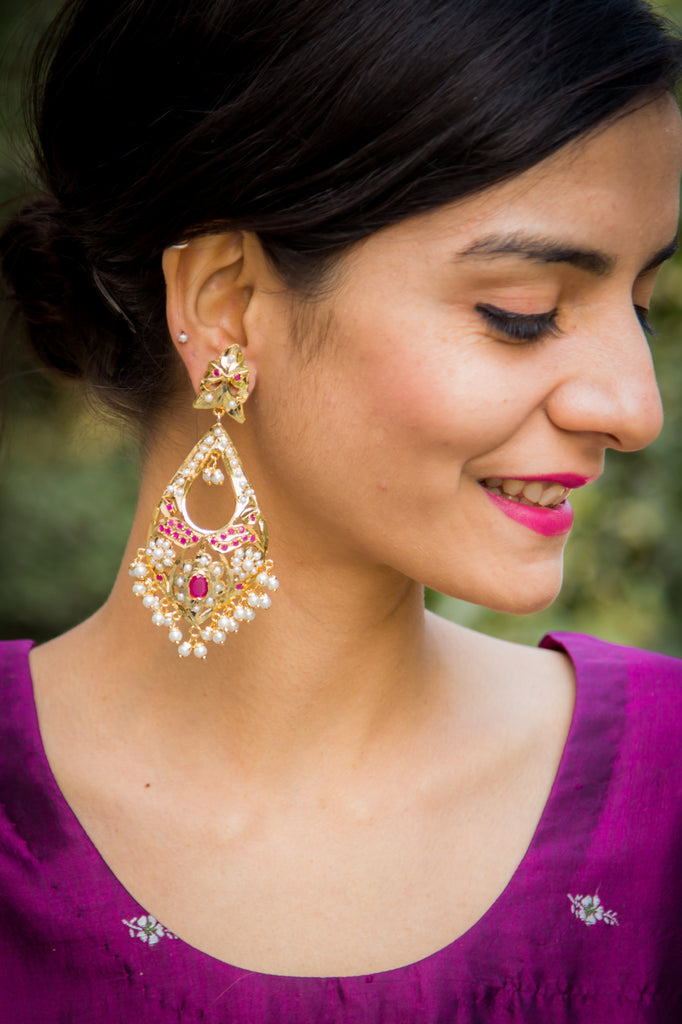 Dyumna Amritsari Jadau Earrings