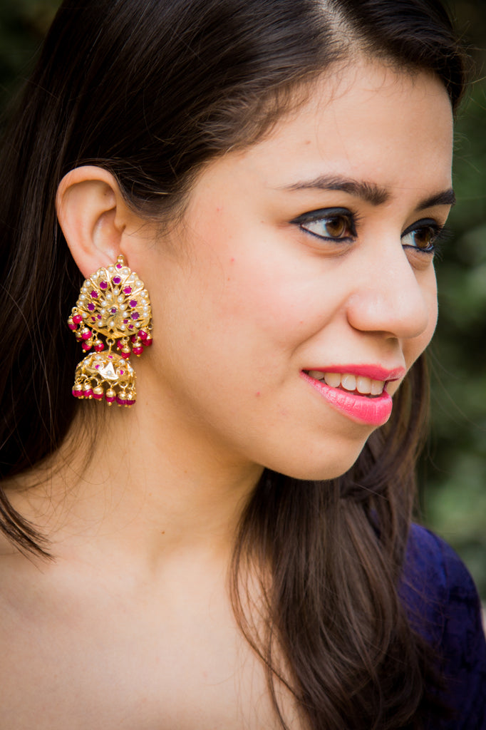 Eva Amritsari Jadau Earrings