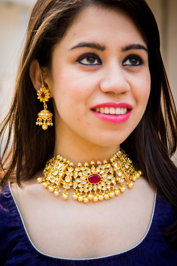 Vritika Kundan Necklace Set