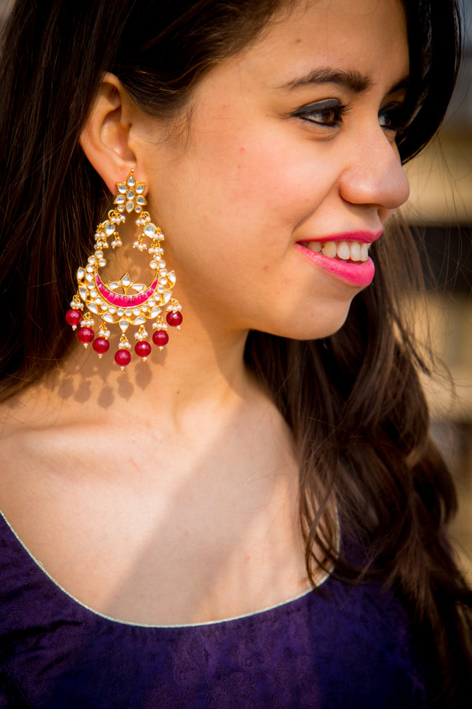 Ryka Ahmadabadi Kundan Earrings