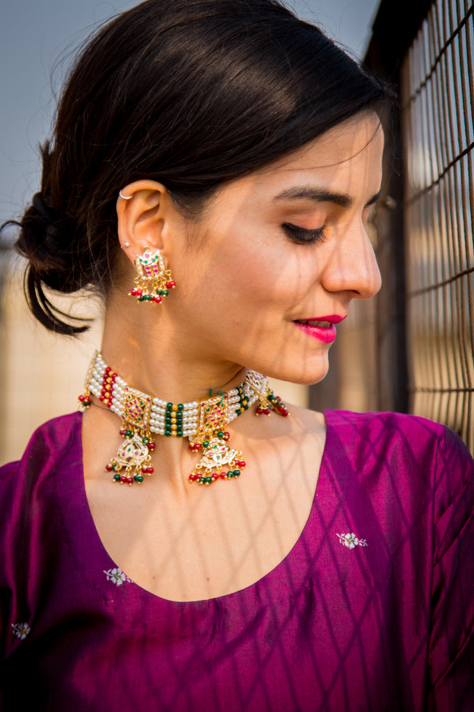 Suha Jadau Necklace Set