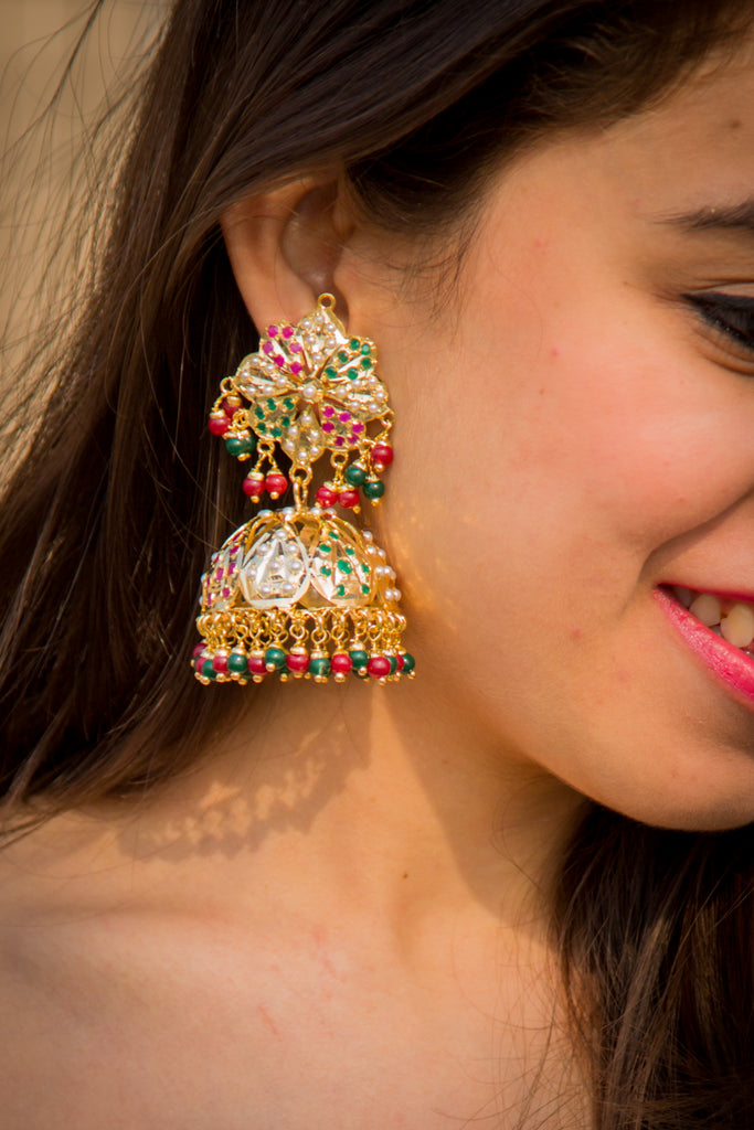 Ranya Rang Jadau Earrings