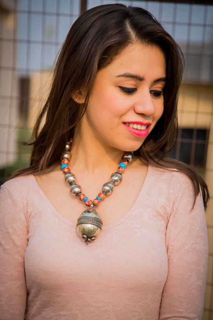 Boho Kutchi Afghani Necklace